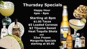 Thursday Specials 1080